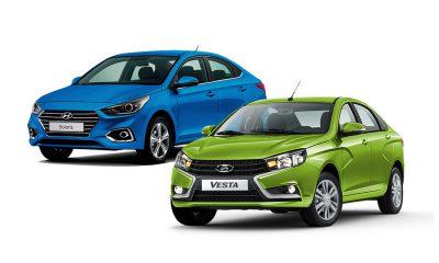 LADA Vesta, лада веста, веста, автоваз, Hyundai Solaris, солярис 2017 или веста, solaris 2017 vs vesta,