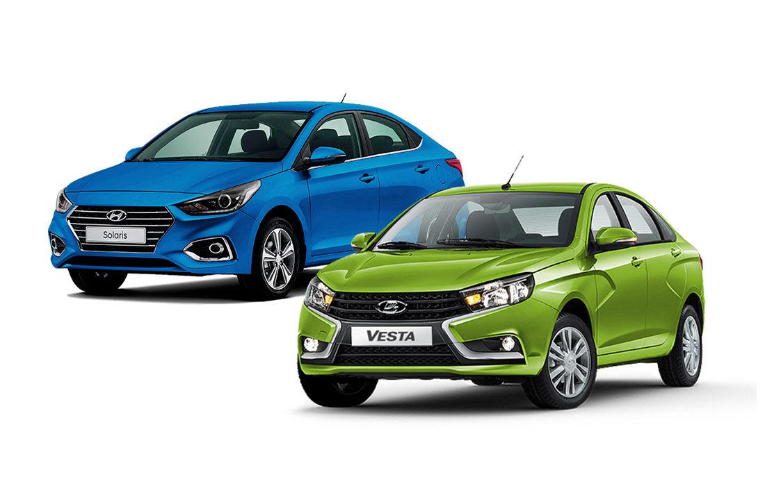 LADA Vesta, лада веста, веста, автоваз, Hyundai Solaris, солярис 2017 или веста, solaris 2017 vs vesta,