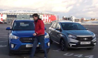 LADA XRAY, Hyundai Creta, лада х рей, тест